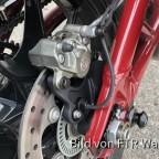 Schwarze Bremsplatte